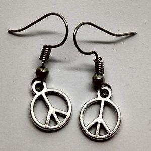 5/$20 Cute peace signs love symbol happy earrings